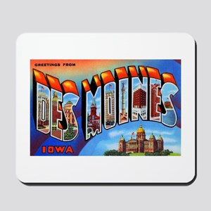 Des Moines Iowa Greetings Mousepad