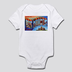 Des Moines Iowa Greetings Infant Bodysuit