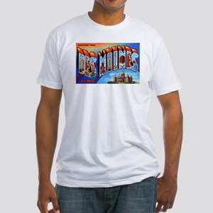 Des Moines Iowa Greetings (Front) Fitted T-Shirt