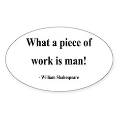 Shakespeare 21 Oval Decal