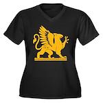 Gryphon Women's Plus Size V-Neck Dark T-Shirt