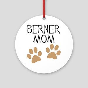 Big Paws Berner Mom Ornament (Round)