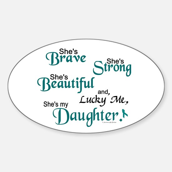 Lucky Me 1 (Daughter OC) Oval Decal