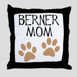 Big Paws Berner Mom Throw Pillow