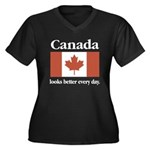 Canada Looks Better Every Day Women's Plus Size V-