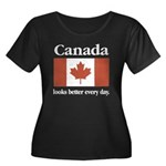 Canada Looks Better Every Day Women's Plus Size Sc