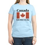 Canada Looks Better Every Day Women's Light T-Shir