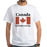 Canada Looks Better Every Day White T-Shirt