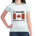 Canada Looks Better Every Day Jr. Ringer T-Shirt