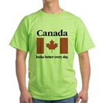 Canada Looks Better Every Day Green T-Shirt