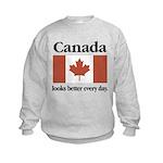 Canada Looks Better Every Day Kids Sweatshirt