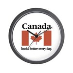 Canada Looks Better Every Day Wall Clock