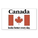 Canada Looks Better Every Day Sticker (Rectangular