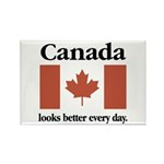 Canada Looks Better Every Day Rectangle Magnet (10