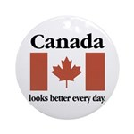 Canada Looks Better Every Day Ornament (Round)