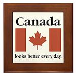 Canada Looks Better Every Day Framed Tile