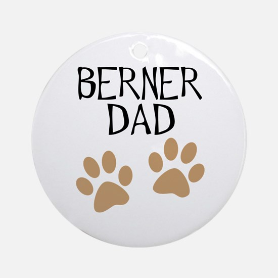 Big Paws Berner Dad Ornament (Round)