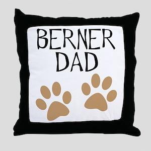 Big Paws Berner Dad Throw Pillow