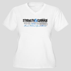 Strength&Courage NG Fiancee Women's Plus Size V-Ne