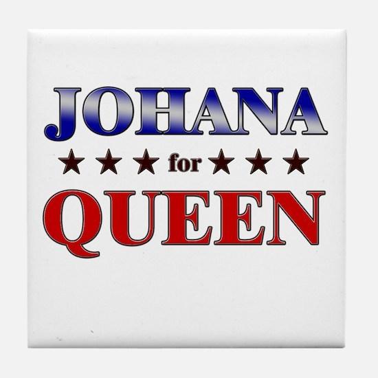 JOHANA for queen Tile Coaster