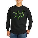 Caffeine Molecule Long Sleeve Dark T-Shirt