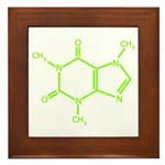 Caffeine Molecule Framed Tile