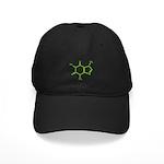 Caffeine Molecule Black Cap