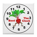 Beet The Clock Tile Coaster