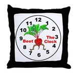 Beet The Clock Throw Pillow