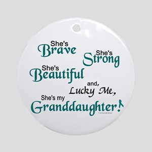Lucky Me 1 (Granddaughter OC) Ornament (Round)