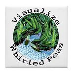 Visualize Whirled Peas Tile Coaster