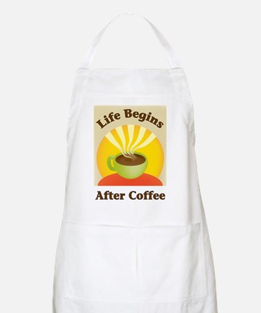 Life begins after coffee BBQ Apron
