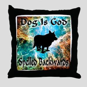 Dog Is God Throw Pillow