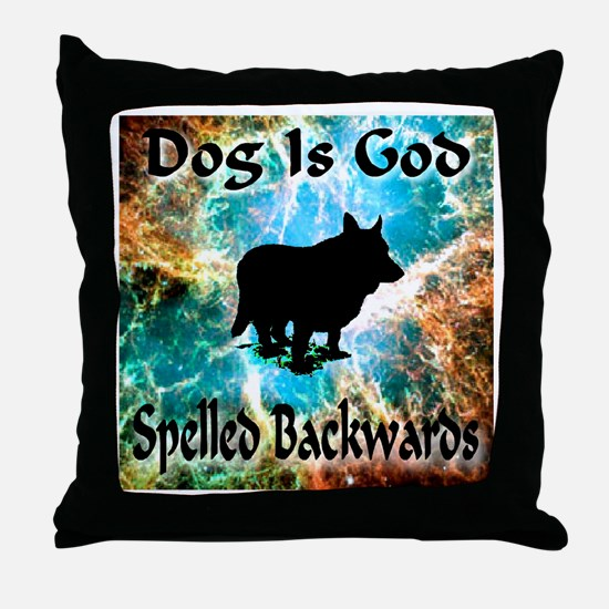 Dog Is God Throw Pillow