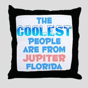 Coolest: Jupiter, FL Throw Pillow