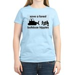 Save A Forest, Bulldoze Hippi Women's Light T-Shir