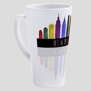 New York skyline 17 oz Latte Mug