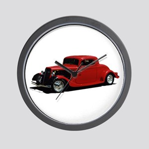 Helaine's Hot Rod 2 Wall Clock