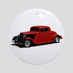 Helaine's Hot Rod 2 Ornament (Round)