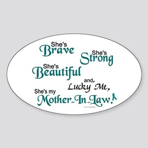 Lucky Me 1 (Mother-In-Law OC) Oval Sticker
