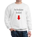Free Breathalyzer Test Below Sweatshirt
