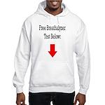 Free Breathalyzer Test Below Hooded Sweatshirt