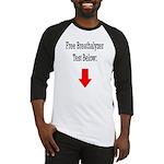 Free Breathalyzer Test Below Baseball Jersey