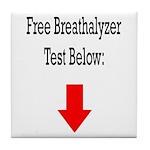 Free Breathalyzer Test Below Tile Coaster