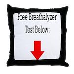 Free Breathalyzer Test Below Throw Pillow