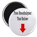 Free Breathalyzer Test Below Magnet