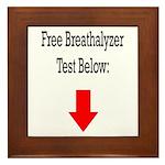 Free Breathalyzer Test Below Framed Tile