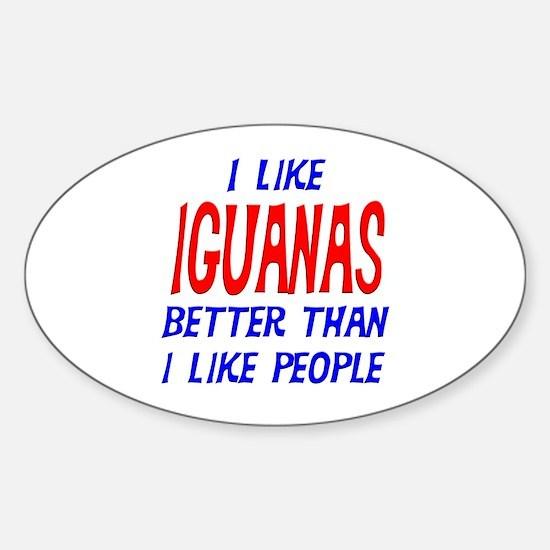 I Like Iguanas Oval Decal