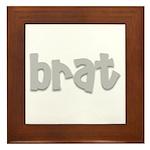 brat Framed Tile