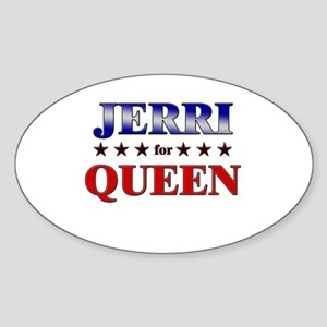 JERRI for queen Oval Sticker